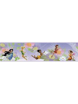 Наклейки для декора - Дисней: Феи орнамент ROOMMATES. Цвет: белый, голубой, желтый, зеленый, красный, оранжевый, серый, синий, черный