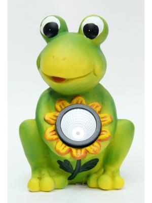 Садовый светильник Лягушка Magic Home. Цвет: зеленый