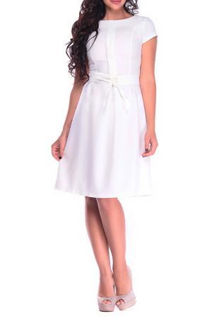 Платье Dioni. Цвет: молочный