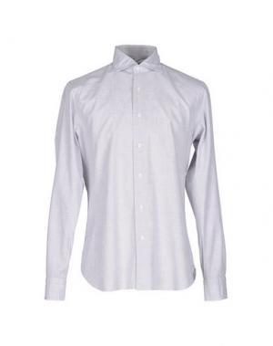 Pубашка DANDYLIFE BY BARBA. Цвет: светло-серый