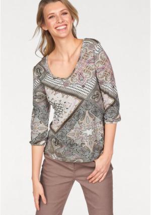 Пуловер CHEER. Цвет: цвет белой шерсти/розовый/темно-серый