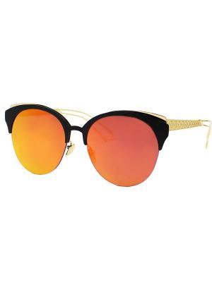 Солнцезащитные очки Taya. Цвет: черный, оранжевый