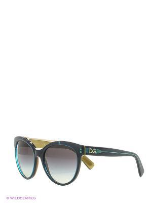 Солнцезащитные очки DOLCE & GABBANA. Цвет: темно-зеленый, светло-зеленый, желтый