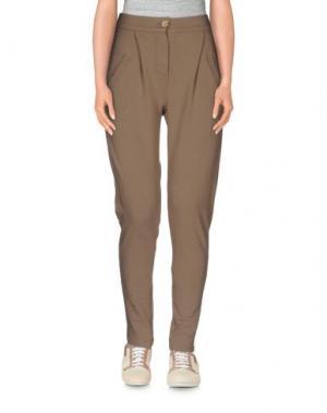 Повседневные брюки BIONEUMA NATURAL FASHION. Цвет: хаки