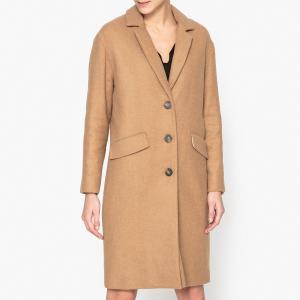 Драповое длинное пальто из шерсти CLAUDIUS HARRIS WILSON. Цвет: темно-бежевый