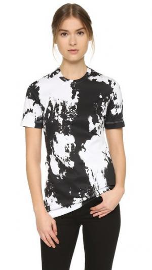 Приталенная футболка Josh Goot. Цвет: выбеленный черный
