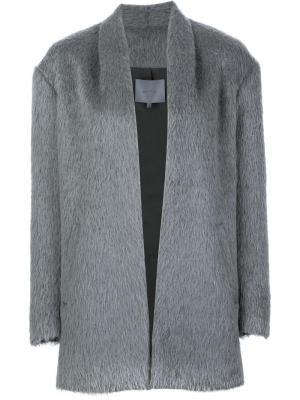 Пальто без застежки Maiyet. Цвет: серый
