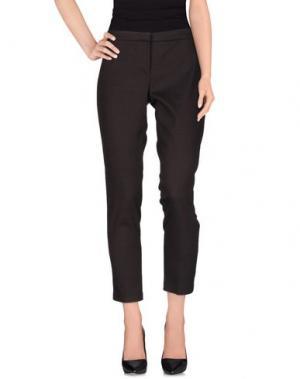 Повседневные брюки TERESA DAINELLI. Цвет: темно-коричневый