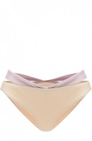 Плавки-бикини с декоративной отделкой NATAYAKIM. Цвет: бежевый