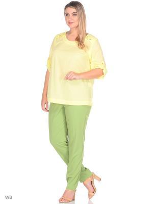 Блузка Eva Graffova. Цвет: светло-желтый