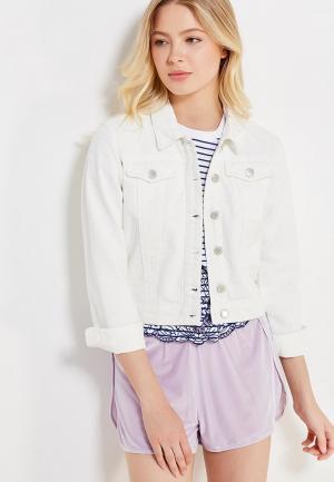 Куртка джинсовая Miss Selfridge. Цвет: белый