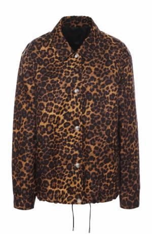 Куртка с отложным воротником и леопардовым принтом Alexander Wang. Цвет: разноцветный
