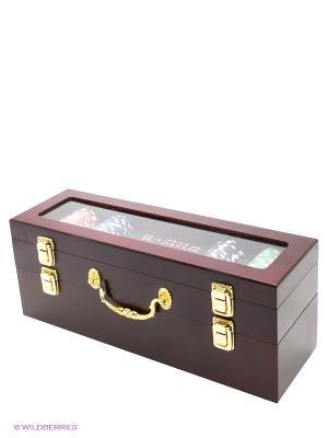 Набор подарочный в деревянной коробке Magic Home. Цвет: сливовый