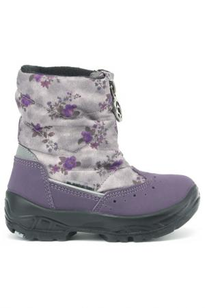 Сапоги Alaska Originale. Цвет: серо-фиолетовый цветы