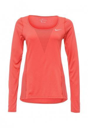 Лонгслив спортивный Nike. Цвет: коралловый