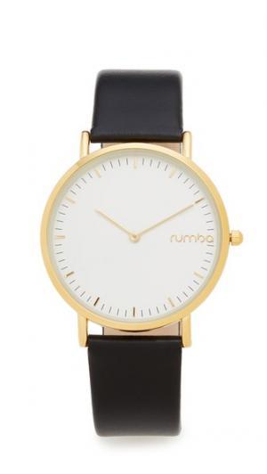 Часы SoHo Lights Out с кожаным ремешком RumbaTime