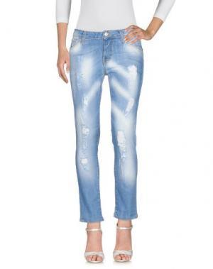 Джинсовые брюки LES NOIR. Цвет: синий