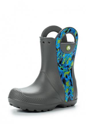 Резиновые сапоги Crocs. Цвет: серый