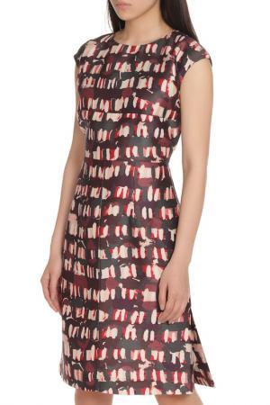 Свободное платье с коротким рукавом и потайной молнией Marni. Цвет: мультицвет