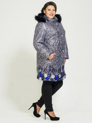 Пальто Silver-String. Цвет: синий, белый, черный