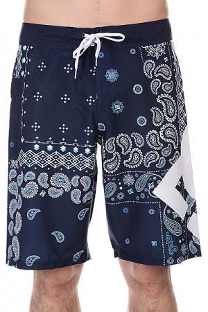 Шорты пляжные DC Lanai 22 Indigo Paisley Shoes. Цвет: синий