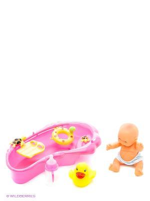 Пупс, ванночка VELD-CO. Цвет: желтый