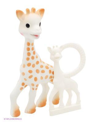 Vulli Игрушки в наборе Жирафик Софи. С фотоконкурсом. Sophie la girafe. Цвет: бежевый, белый, оранжевый
