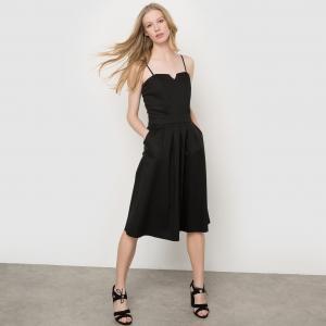 Платье-бюстье La Redoute Collections. Цвет: оранжевый,черный