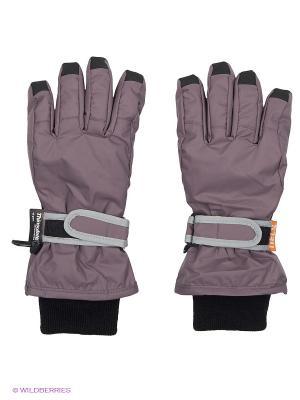 Перчатки NELS. Цвет: серый