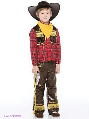 Карнавальный костюм Ковбой желтый Батик. Цвет: красный, коричневый