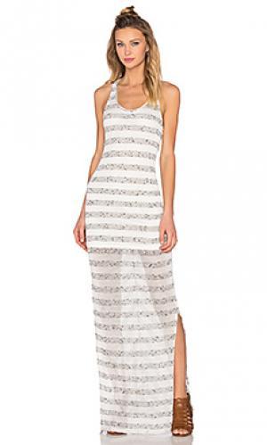Макси-платье в полоску Bella Luxx. Цвет: белый