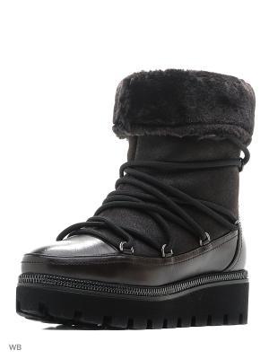 Ботинки-луноходы SISTINA. Цвет: коричневый