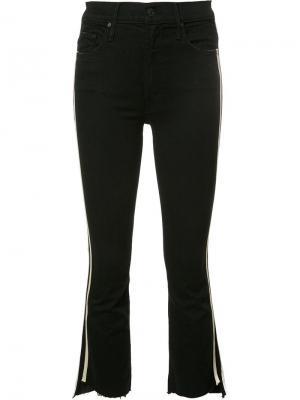 Укороченные джинсы в полоску Mother. Цвет: чёрный