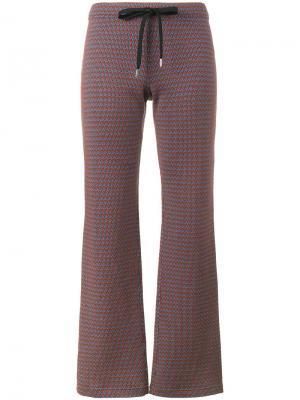 Спортивные брюки клеш Marni. Цвет: коричневый