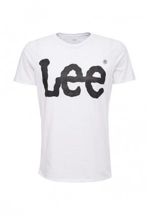 Футболка Lee. Цвет: белый