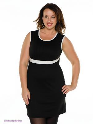 Платье MONDIGO. Цвет: черный, белый