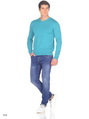 Пуловер JLAB. Цвет: бирюзовый