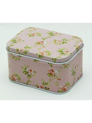 Коробка для безделушек и мелочей Лепестки роз Magic Home. Цвет: бледно-розовый
