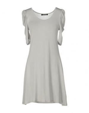 Короткое платье EMISPHERE. Цвет: светло-серый