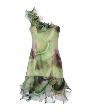 Короткое платье X'S MILANO. Цвет: кислотно-зеленый