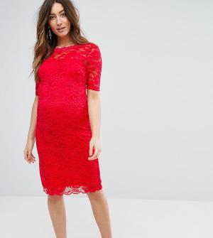 Mama.licious Кружевное платье для беременных Mamalicious. Цвет: мульти