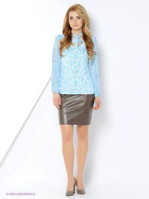 Блуза PRIZZARO. Цвет: белый, голубой