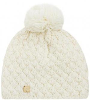Вязаная шапка из акрила и шерсти молочного цвета R.Mountain. Цвет: молочный