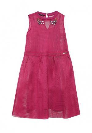 Платье Guess. Цвет: фуксия
