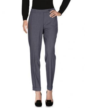 Повседневные брюки AGO E FILO. Цвет: серый