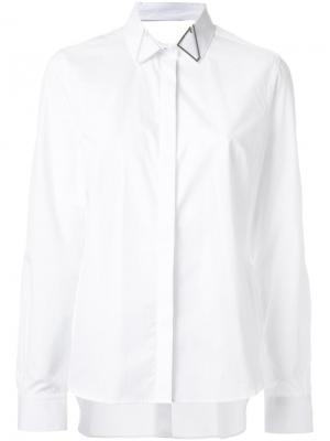 Классическая рубашка Dion Lee. Цвет: белый