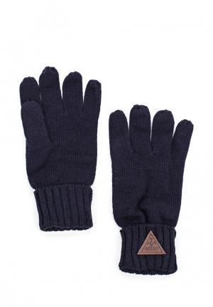 Перчатки Guess. Цвет: синий