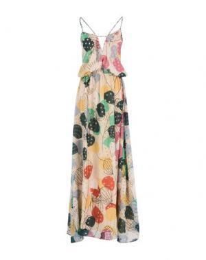 Длинное платье KRISTINA TI. Цвет: бежевый