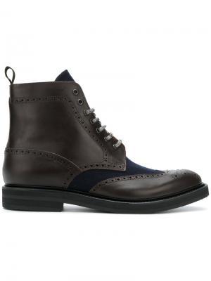 Ботинки по щиколотку Eleventy. Цвет: коричневый
