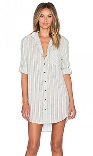 Свободное платье-рубашка boundless Lost in Lunar. Цвет: серый